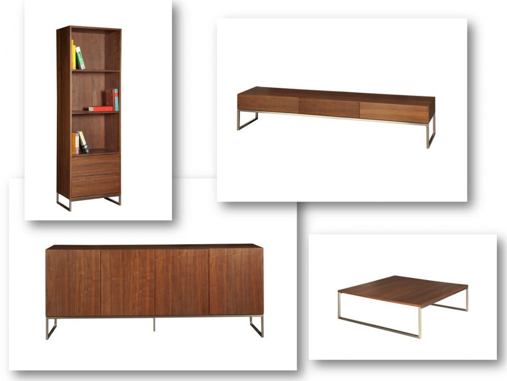 Design Bucherschrank Wohnzimmerschrank Walnuss Furniert Breite 60 Cm