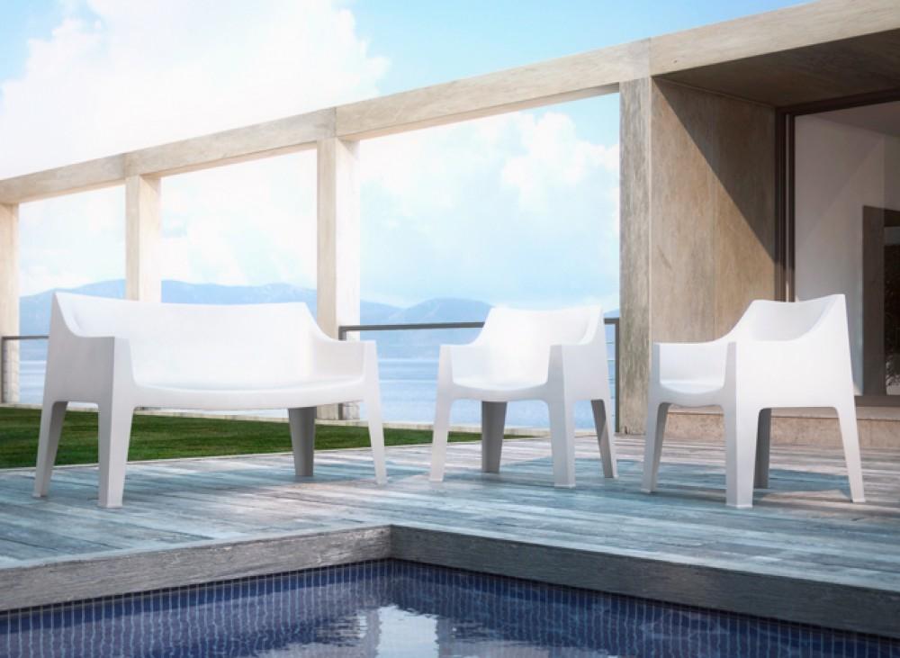 gartenbank wei sofa kunststoff outdoor bank wei b nke outdoor m bel m bel. Black Bedroom Furniture Sets. Home Design Ideas
