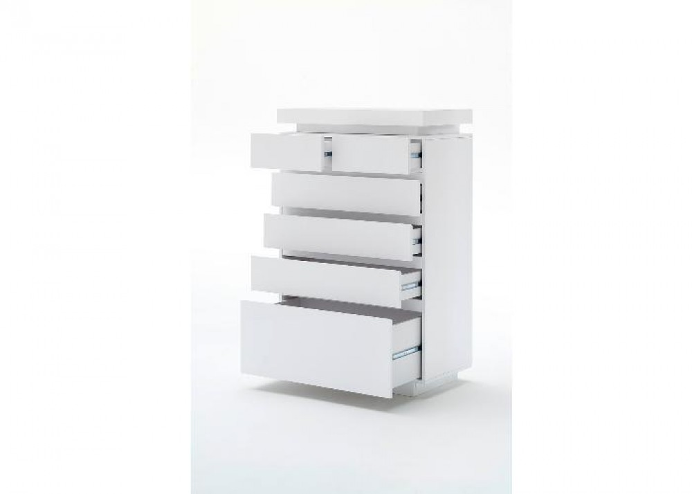 kommode wei hochglanz lackiert moderne kommode mit led beleuchtung breite 73 cm sideboards. Black Bedroom Furniture Sets. Home Design Ideas