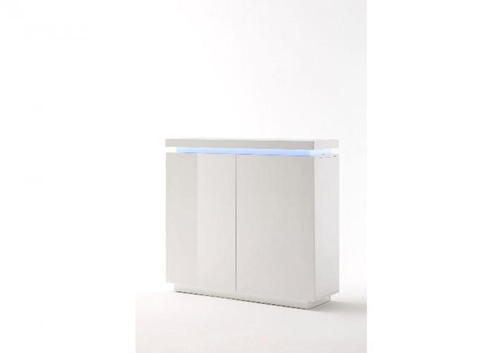 Kommode wei hochglanz lackiert moderne anrichte mit led beleuchtung breite 120 cm - Moderne gartenaccessoires ...