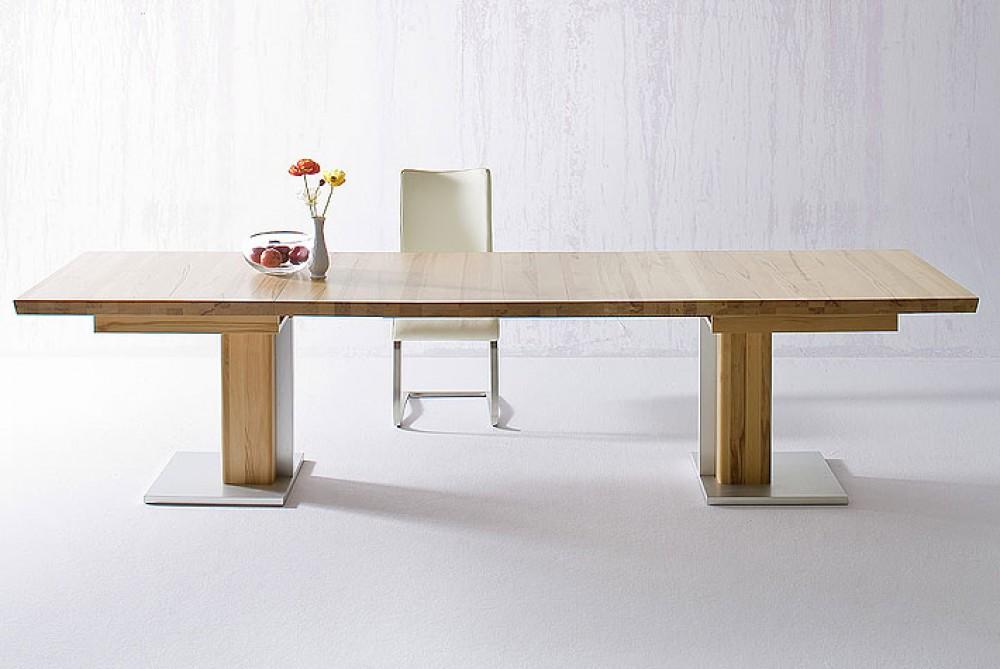 esstisch massivholz ausziehbar ausziehbarer tisch holz ma e 90 x 180 330 cm. Black Bedroom Furniture Sets. Home Design Ideas