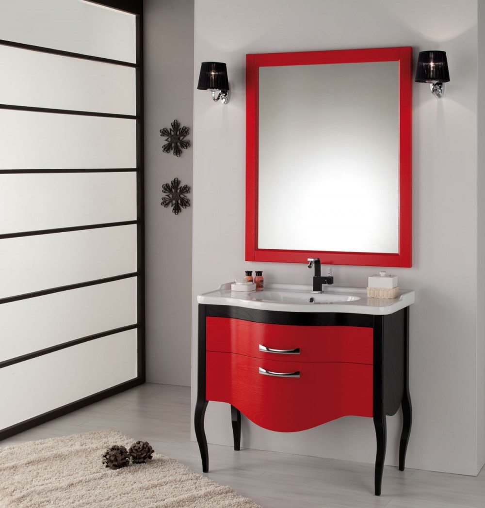 waschtisch mit spiegel im landhausstil in verschidenen. Black Bedroom Furniture Sets. Home Design Ideas