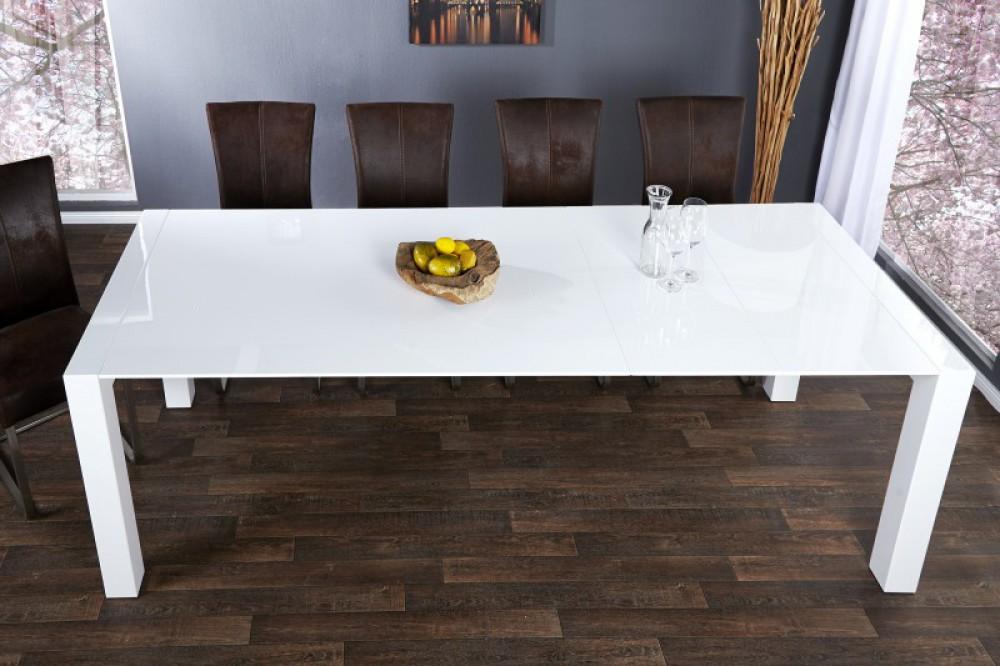 Esstisch Weiß Hochglanz, Konferenztisch, Tisch Weiß, Länge