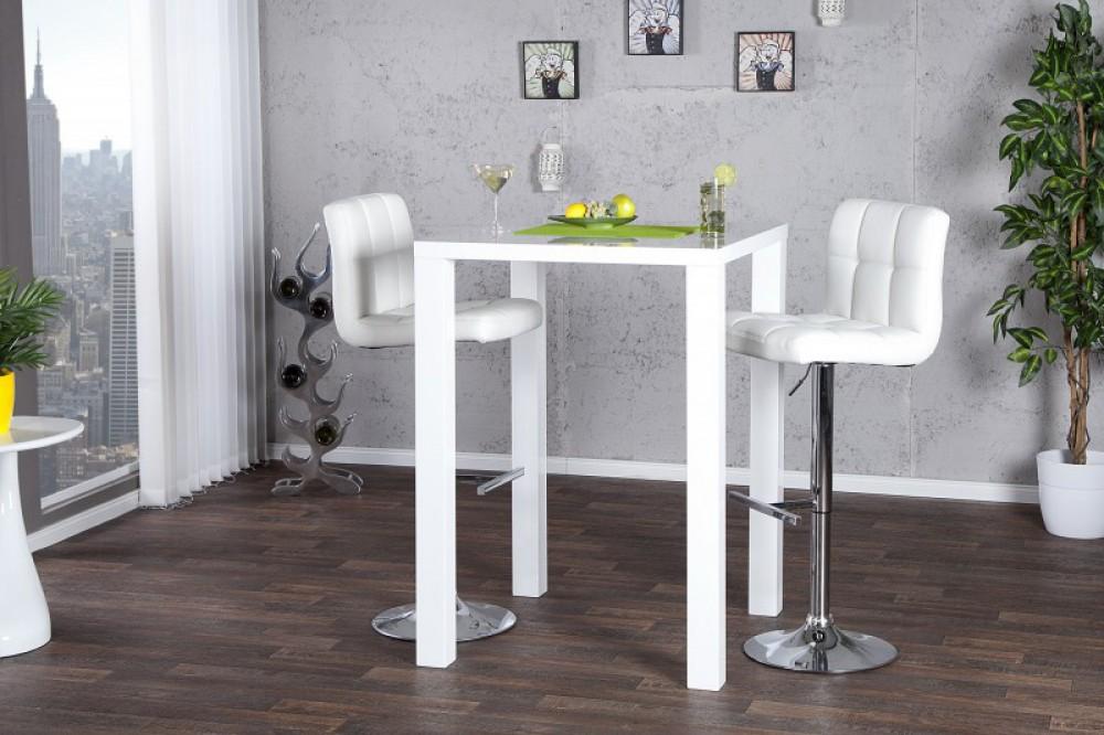 bartisch wei hochglanz stehtisch wei h he 105 cm. Black Bedroom Furniture Sets. Home Design Ideas