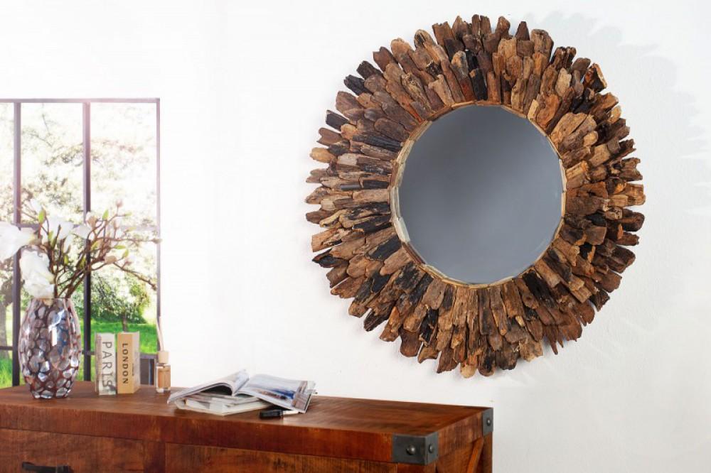Spiegel Treibholz Wandspiegel Durchmesser 100 Cm