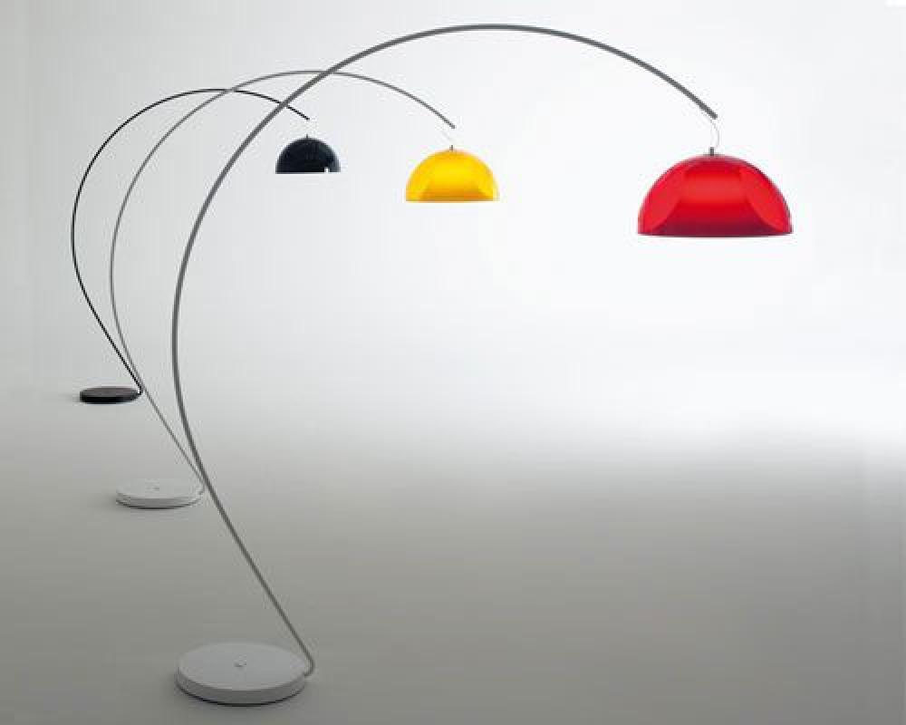 design bogenleuchte mit einem lampenschirm stehlampe lampenschirm 52 cm beleuchtung b ro. Black Bedroom Furniture Sets. Home Design Ideas