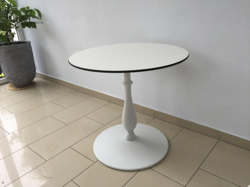 Tisch rund Barockstyle, Tisch weiß, Bistrotisch rund weiß ...