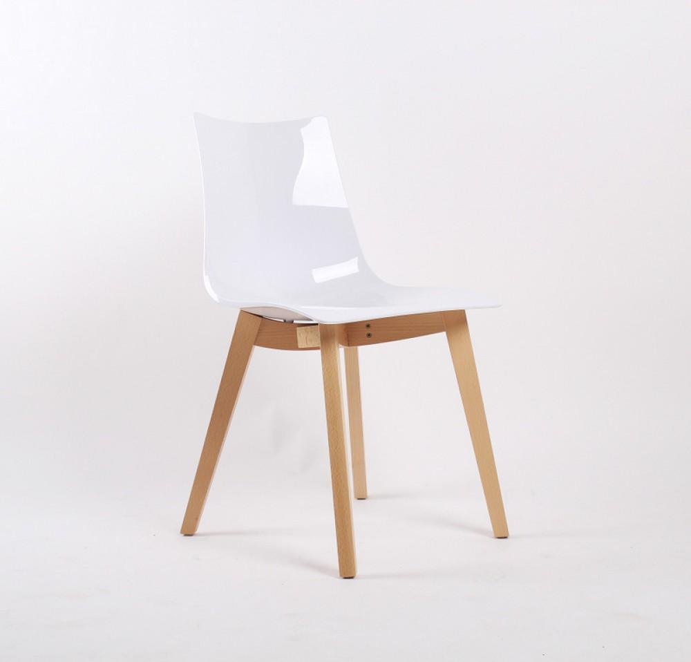 Stuhl Weiß Natural Design Buche Holz wlPXOukZiT