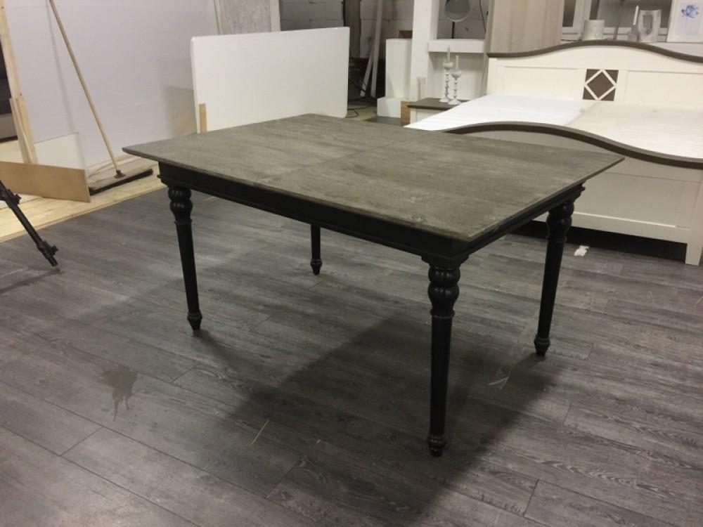 Tisch Ausziehbar Schwarz Grau Landhaus Esstisch Schwarz Massivholz