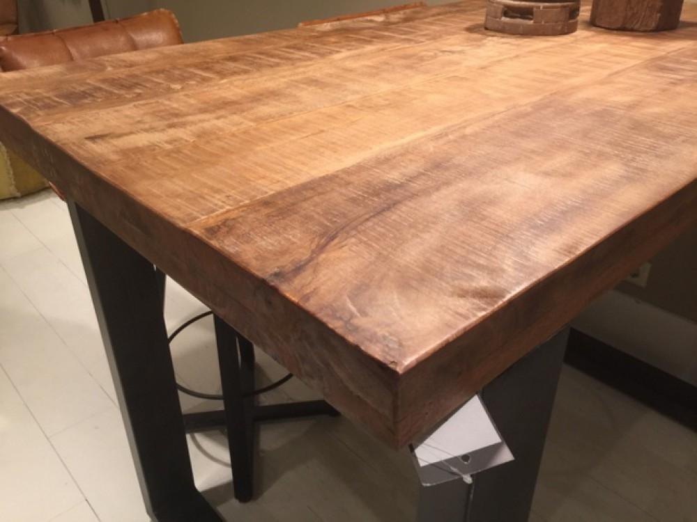 Bartisch Grau Naturholz Tresentisch Industrie Grau Tisch Metall