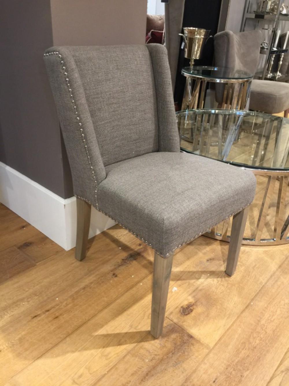 Stuhl gepolstert landhaus stuhl grau gepolstert for Stuhl gepolstert