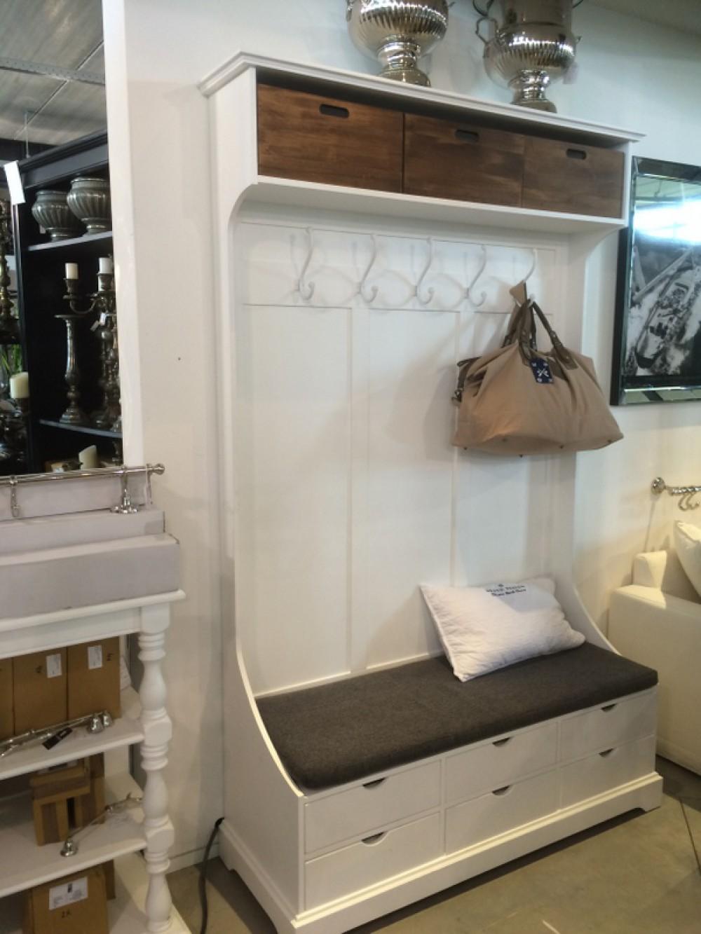 Garderobe Mit Sitzbank Garderobenschrank Im Landhausstil Weiss