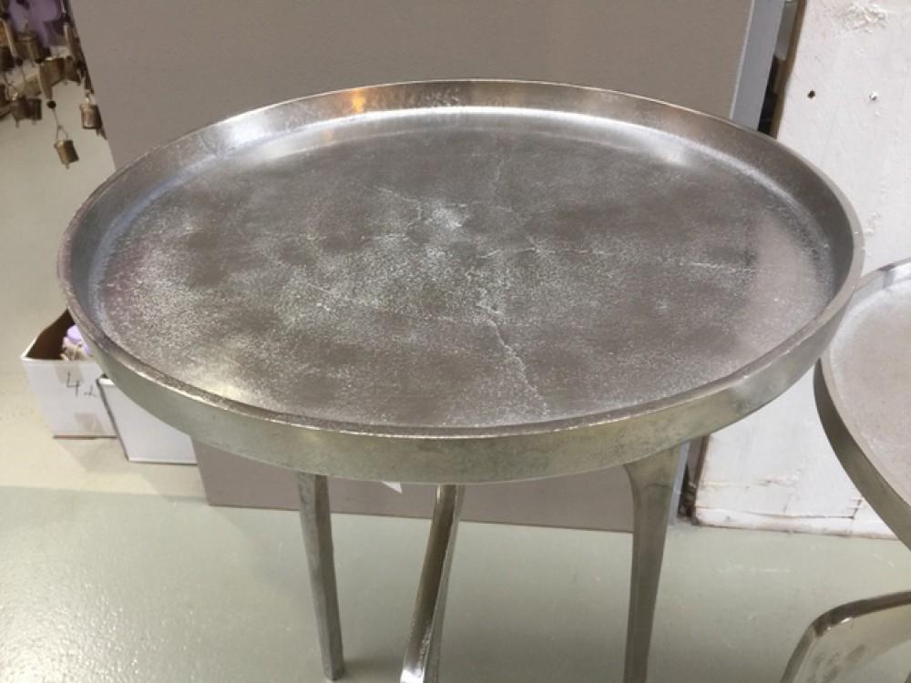 2er set beistelltisch metall silber beistelltisch silber