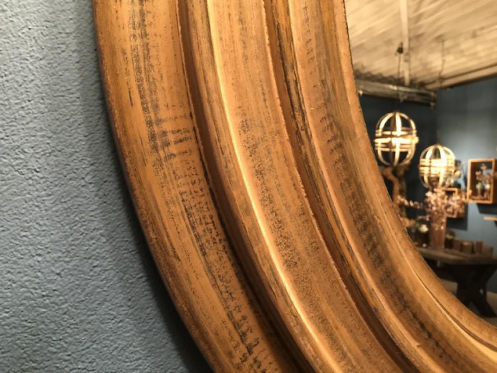 Spiegel Rund Massivholz, Wandspiegel Rund Holz