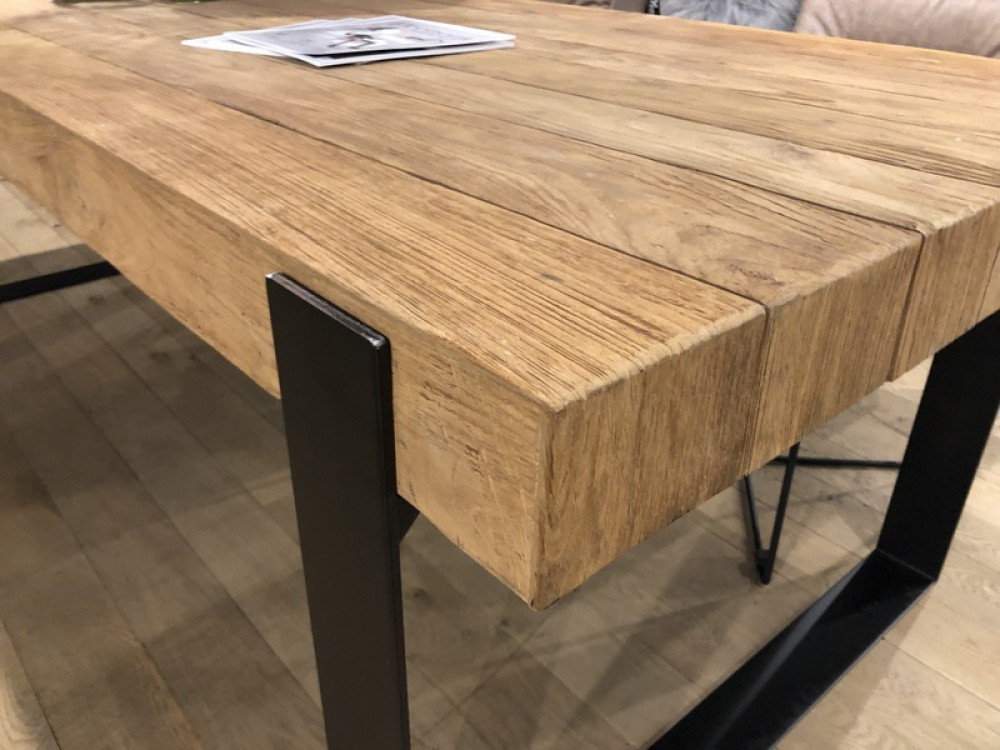 Couchtisch Holz Metall, Couchtisch Industriedesign Metall ...