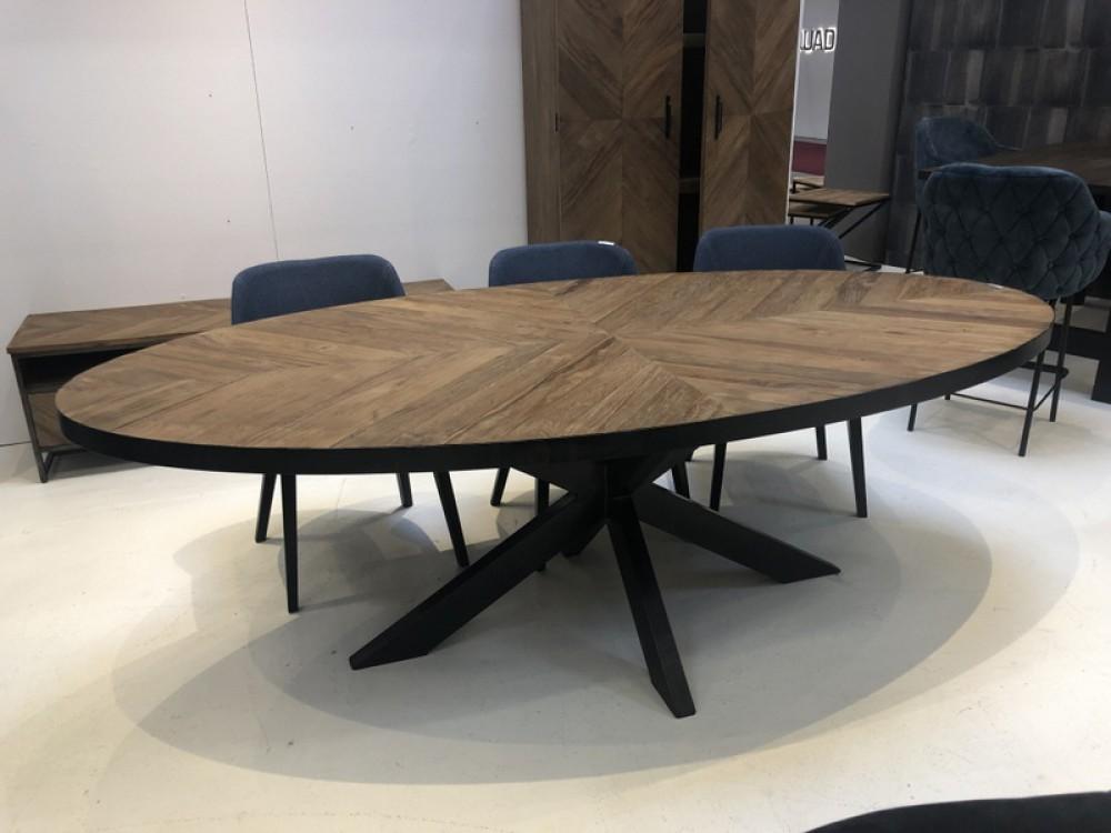 Tisch oval Landhaus, Esstisch schwarz oval Metall