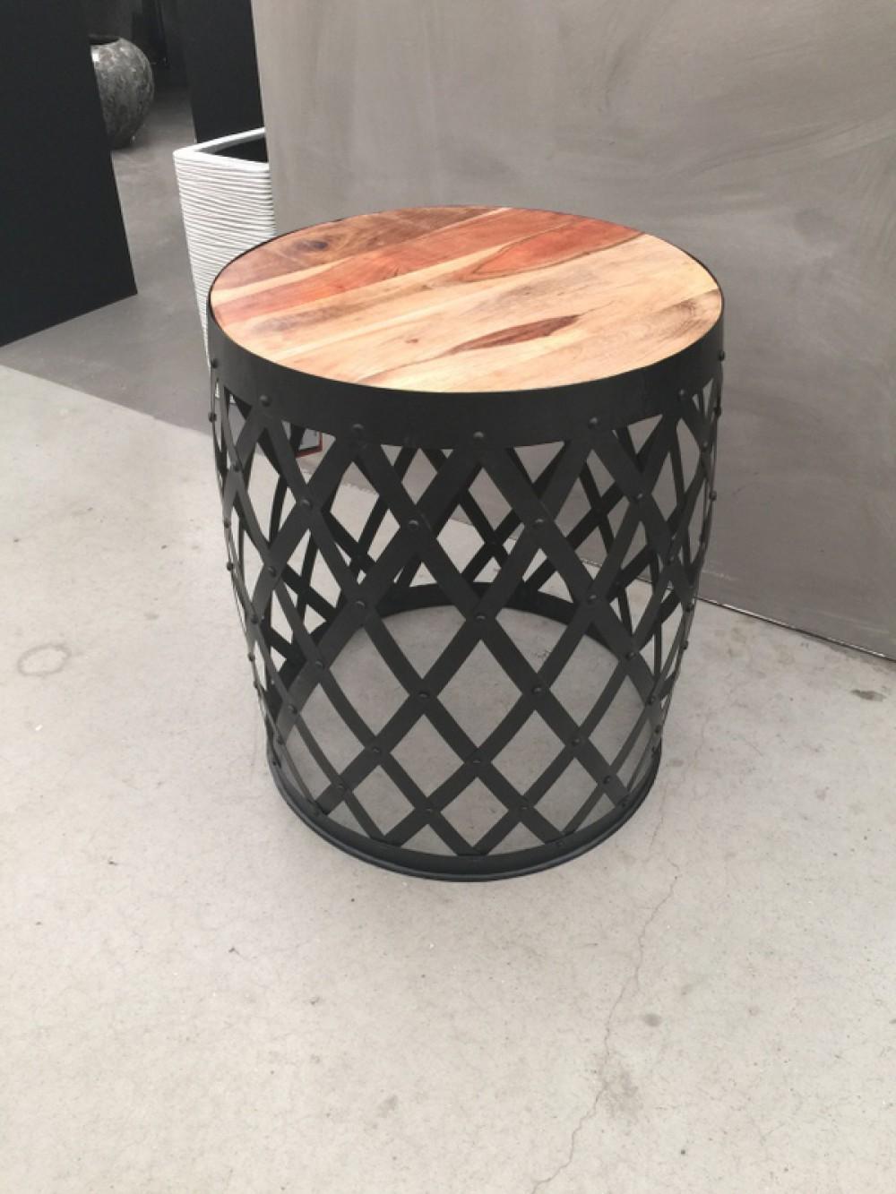 beistelltisch rund metall schwarz beistelltisch industrie. Black Bedroom Furniture Sets. Home Design Ideas