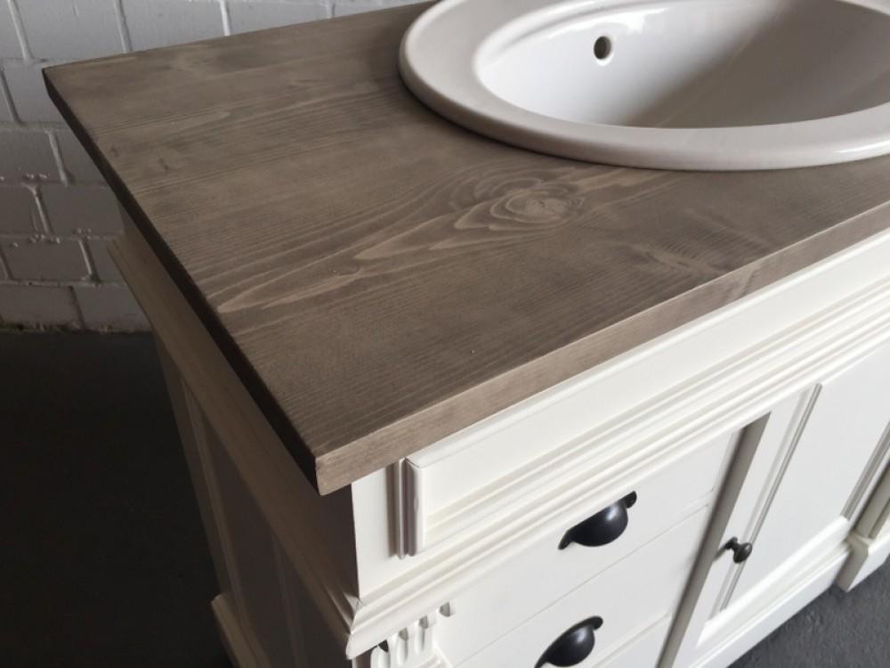 Waschtisch wei braun massivholz waschtisch im landhausstil spiegel optional bad - Waschtisch braun ...