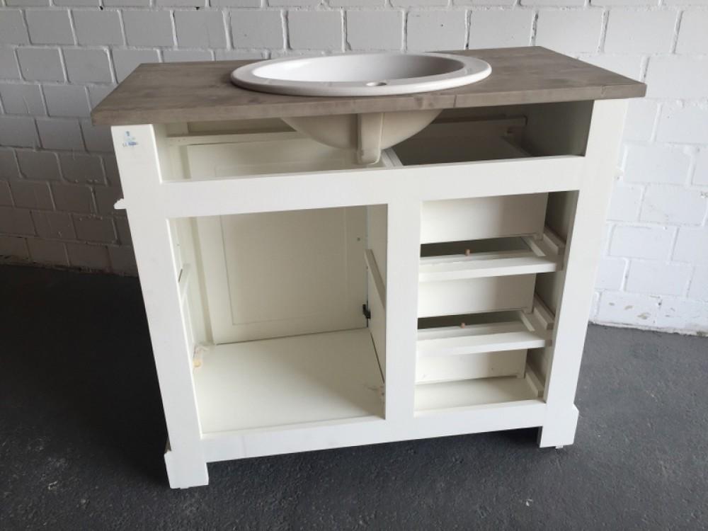 waschtisch wei braun massivholz waschtisch im landhausstil spiegel optional waschtische. Black Bedroom Furniture Sets. Home Design Ideas