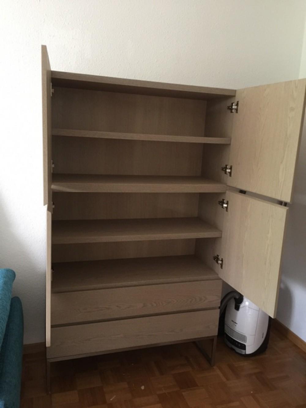 Design Schrank, Wohnzimmerschrank Farbe beige-grau mit ...
