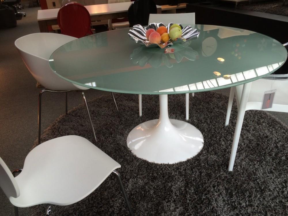 runder glastisch esstisch wei konferenztisch wei. Black Bedroom Furniture Sets. Home Design Ideas