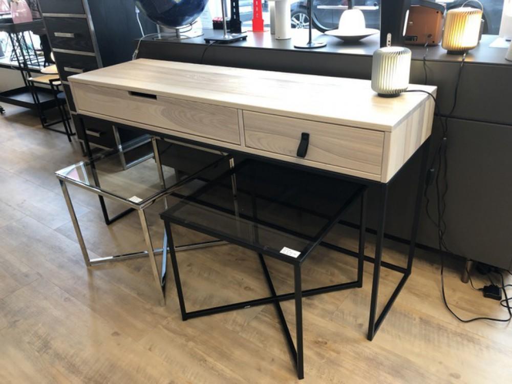 konsole naturholz metall wandkonsole schwarz wandtisch. Black Bedroom Furniture Sets. Home Design Ideas