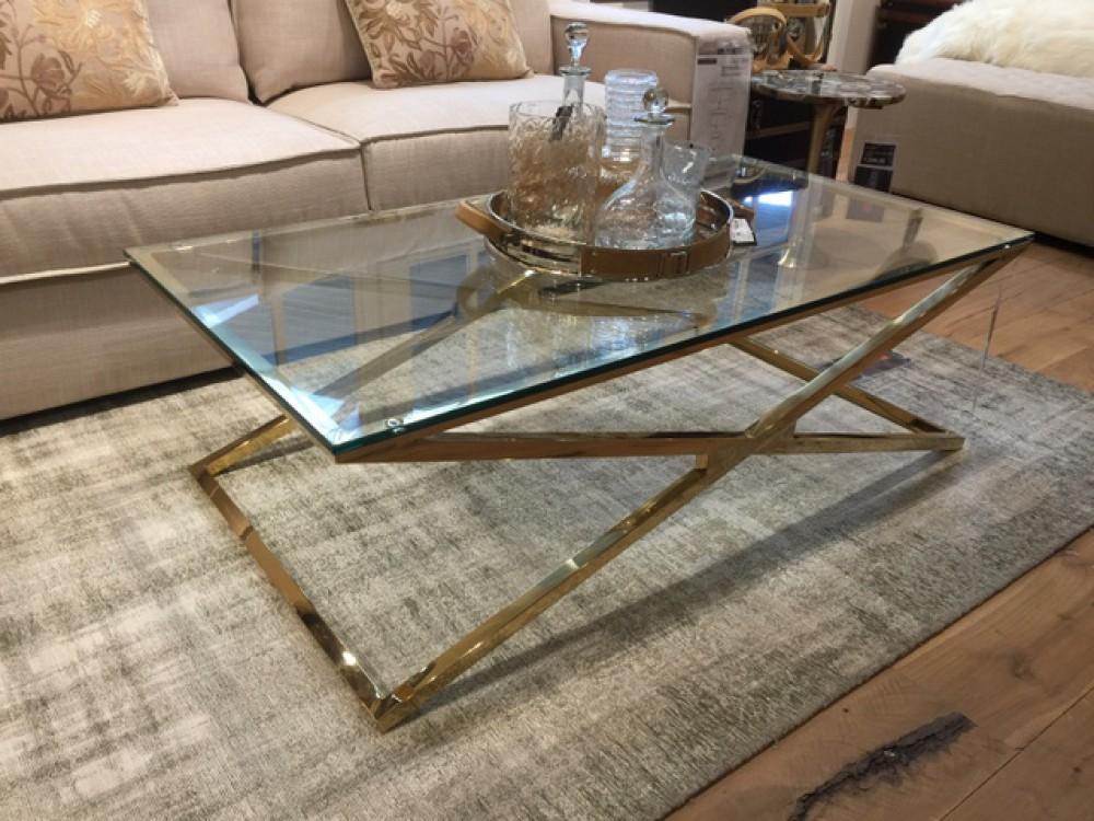 Couchtisch Gold Glas Metall Tisch Gold Glas Metall