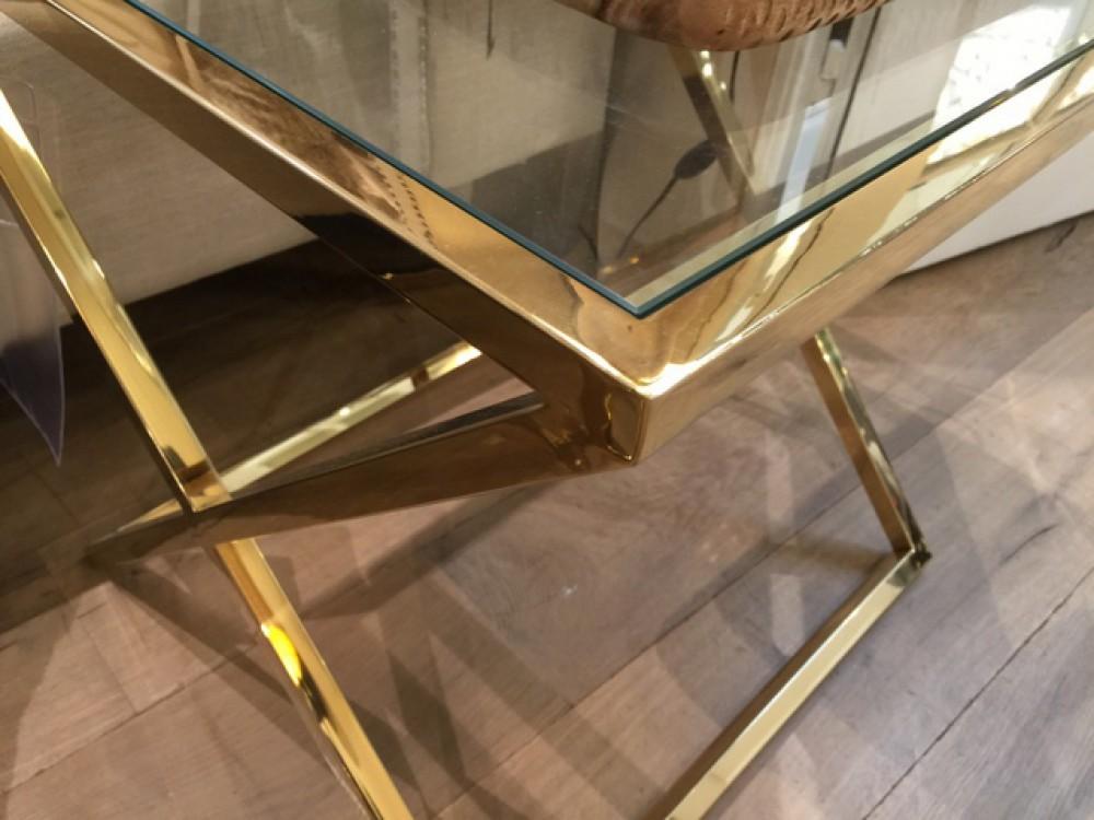Beistelltisch Gold Glas Metall Glastisch Gold Tisch Gold Glastisch