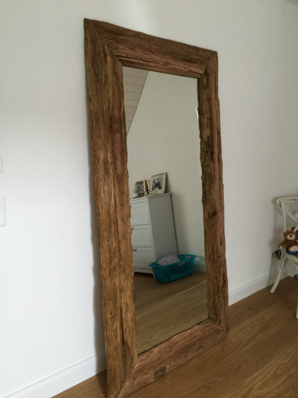 spiegel massivholz teak wandspiegel altholz ma e 200 x 80 cm. Black Bedroom Furniture Sets. Home Design Ideas