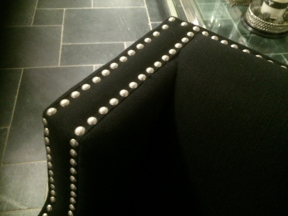 Sessel mit Nieten schwarz gepolstert Sessel & Sofa