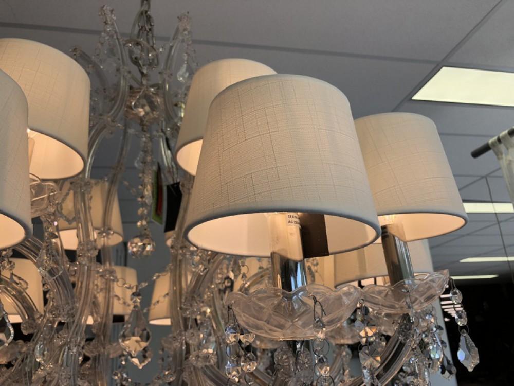 Kronleuchter mit Lampenschirmen, Kronleuchter transparent 18 flammig