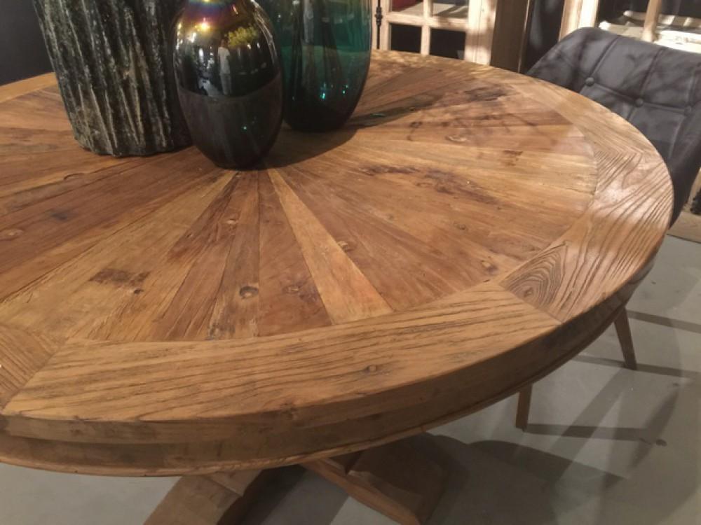 runder tisch altholz esstisch rund altholz tisch im landhausstil durchmesser 135 cm