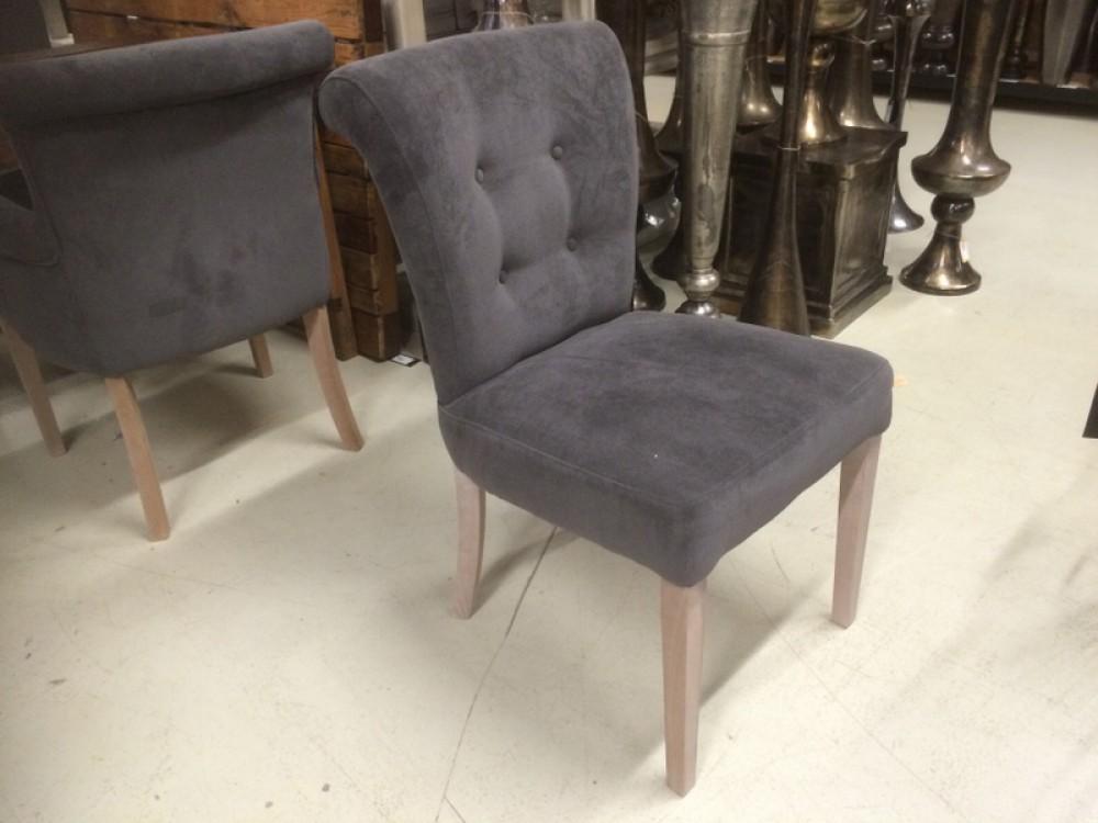 Gepolsterter stuhl mit armlehne stuhl grau - Stuhl mit armlehne grau ...