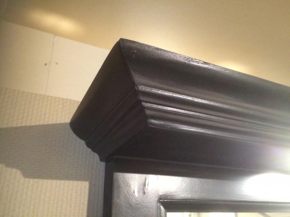 Spiegel schwarz mit beleuchten spiegel massivholz breite 138 cm bad waschtische badm bel for Sprinter breite mit spiegel