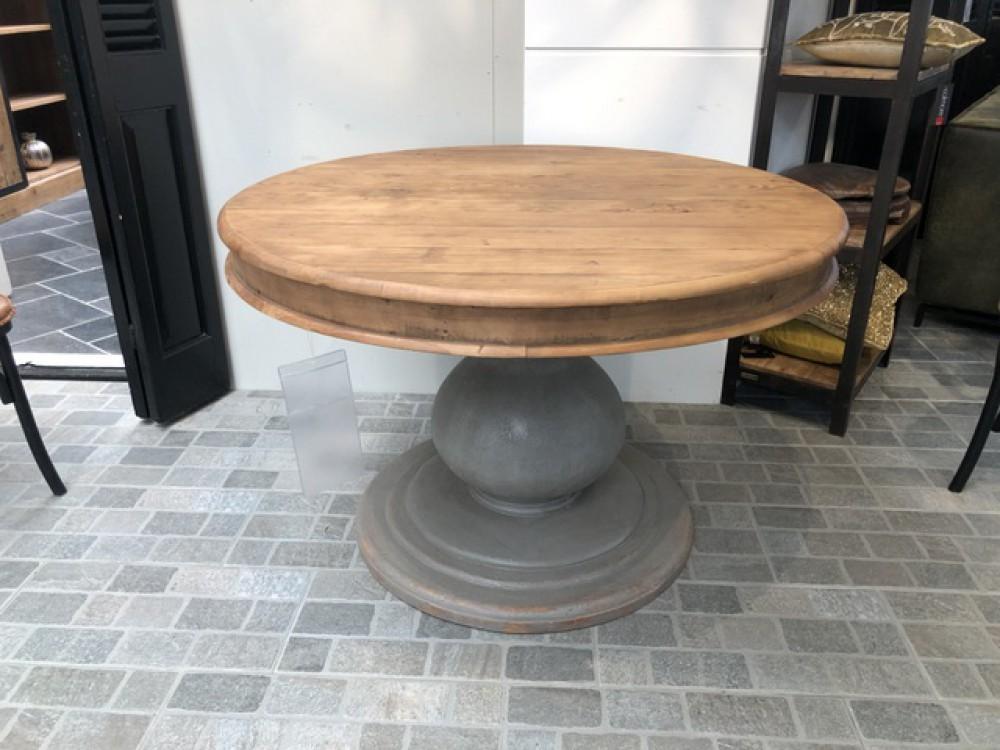 Runder Tisch, Esstisch rund Massivholz, Tisch rund Landhausstil, Durchmesser 160 cm