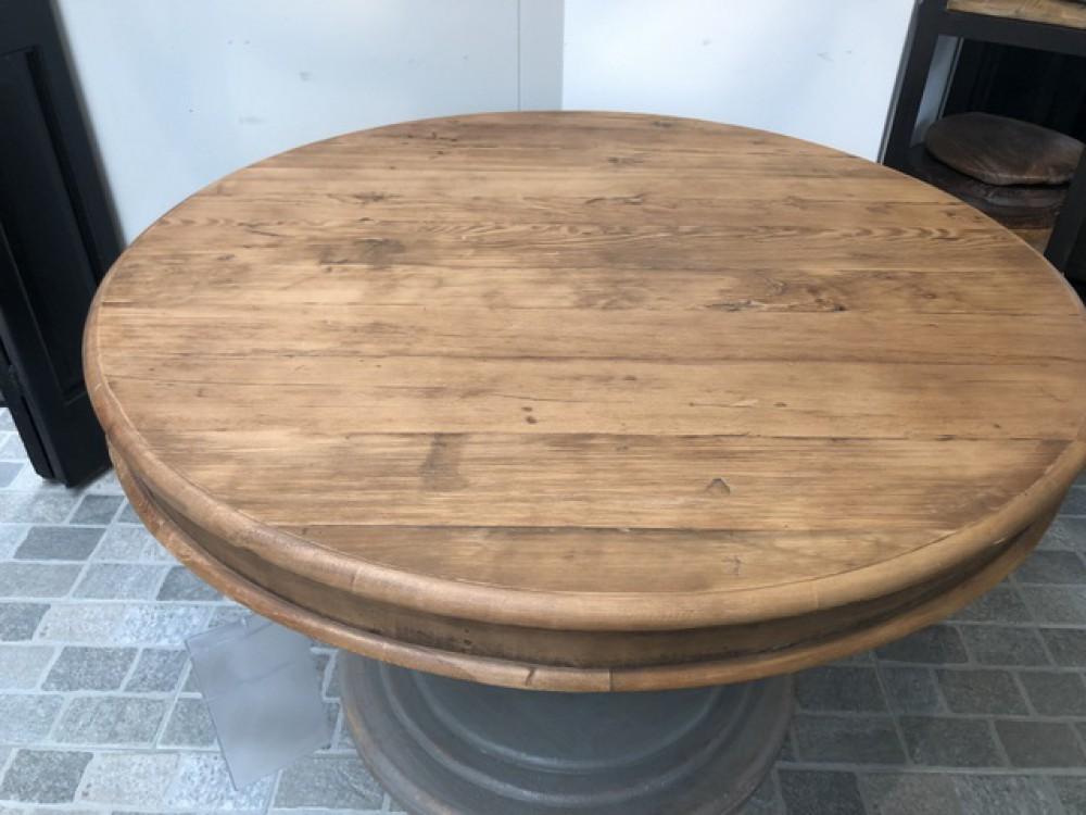 Runder Tisch, Esstisch rund Massivholz, Tisch rund Landhausstil, Durchmesser 120 cm