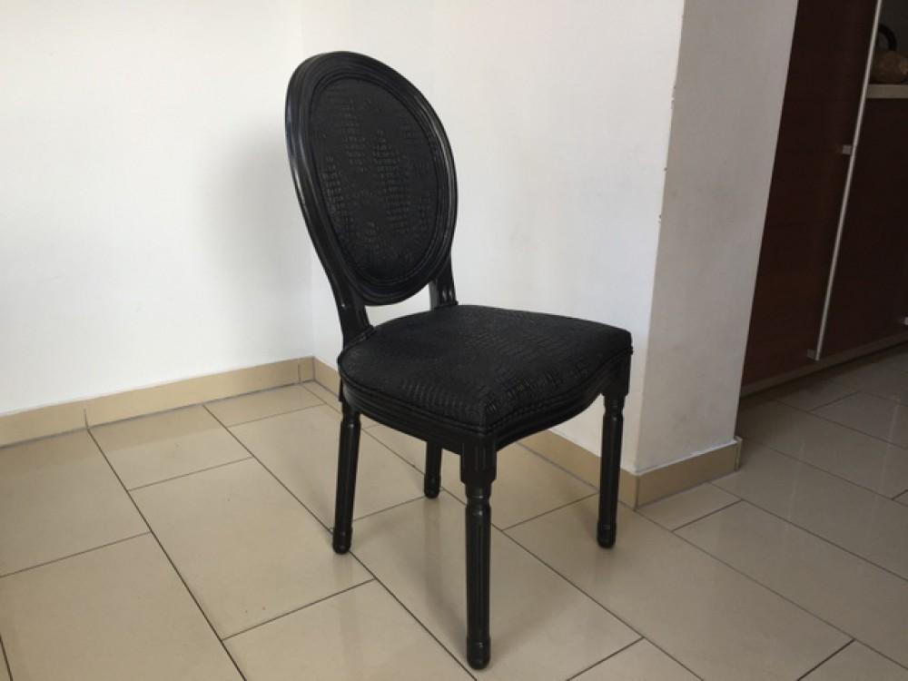 Stuhl schwarz barock Barock Stuhl gepolstert