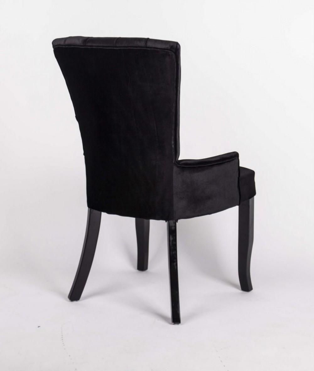 Stuhl Gepolstert Stuhl Im Landhausstil Schwarzer
