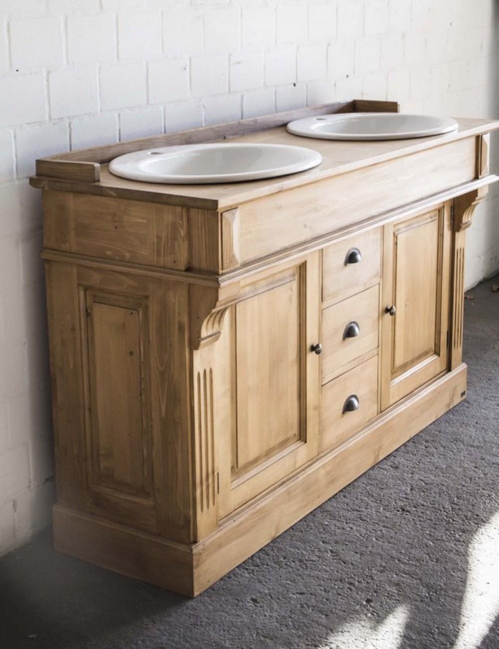 waschtisch doppelwaschtisch im landhausstil spiegel optional bad waschtische badm bel. Black Bedroom Furniture Sets. Home Design Ideas
