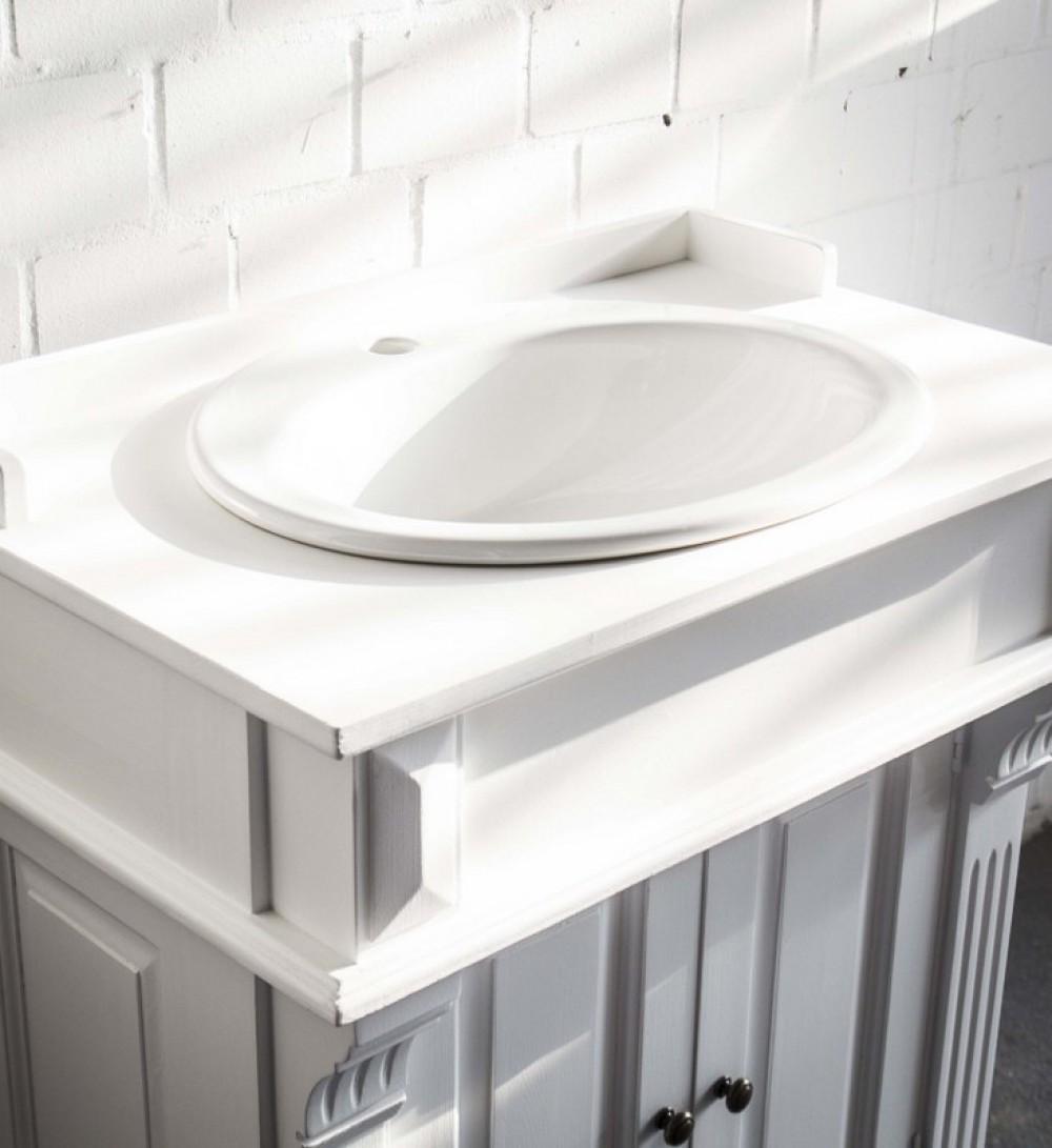 waschtisch wei im landhausstil badm bel klassisch waschtische bad waschtische badm bel. Black Bedroom Furniture Sets. Home Design Ideas
