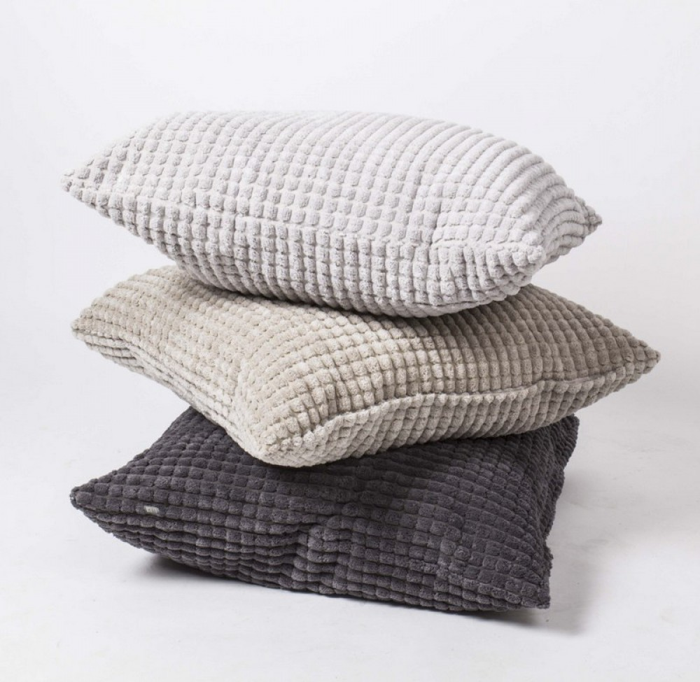 sofakissen dekokissen grau kissen in drei farben gr e 68 x 68 cm. Black Bedroom Furniture Sets. Home Design Ideas