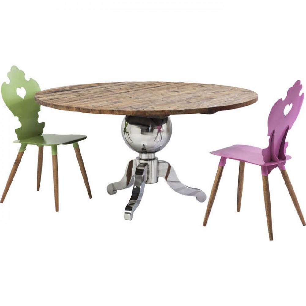 Esstisch rund landhaus  Esstisch rund Landhaus, Tisch rund verchromtes Tischgestell ...