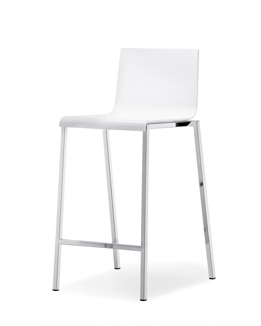 design barstuhl wei barhocker wei chrome sitzh he 65 cm. Black Bedroom Furniture Sets. Home Design Ideas