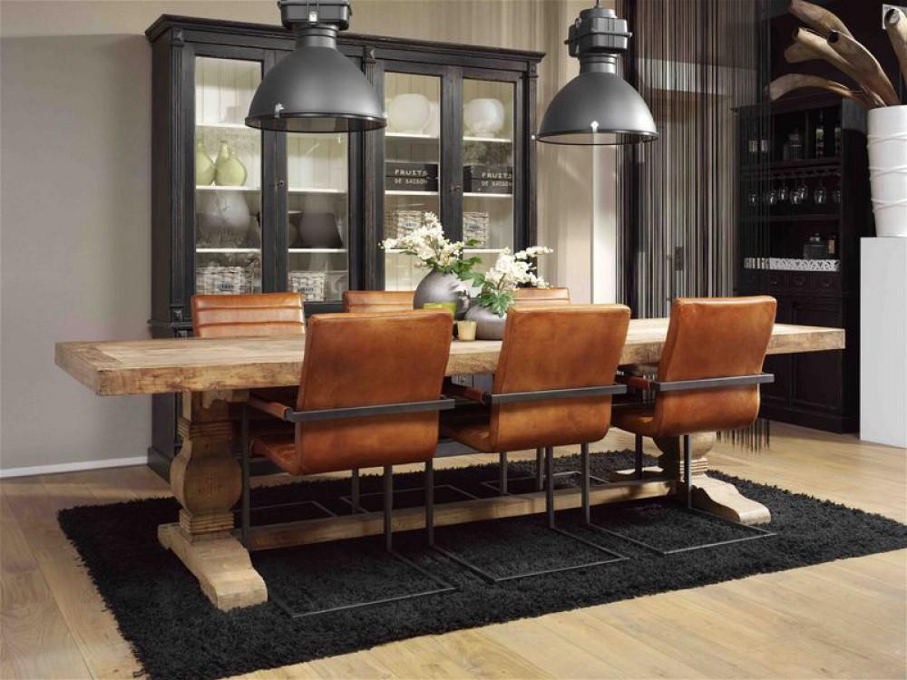 Stuhl Mit Armlehne Cognac Freischwinger Cognac Leder