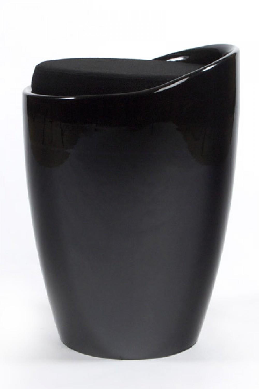 hocker w schekorb in schwarz. Black Bedroom Furniture Sets. Home Design Ideas