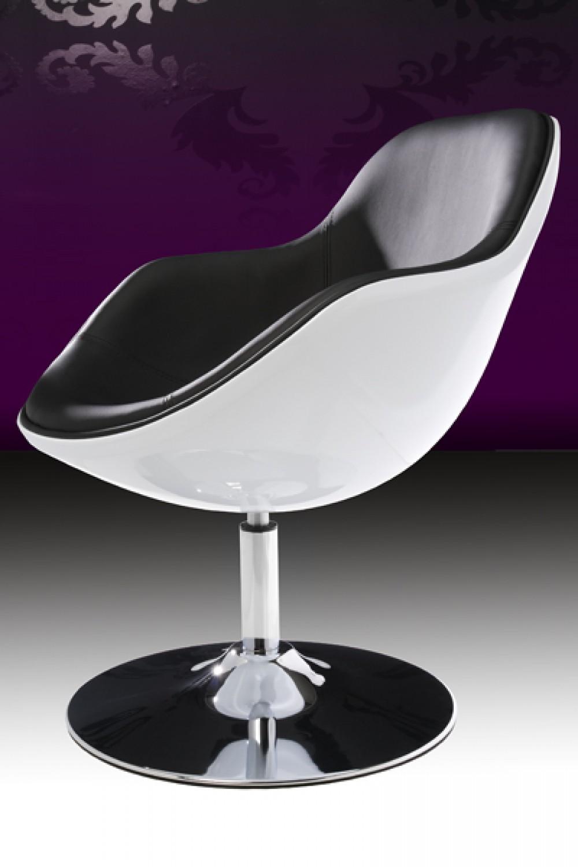 Design Sessel modern in weiß schwarz