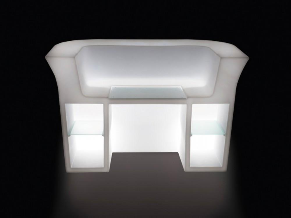 bartheke aus kunststoff bar theke mit beleuchtung bartresen. Black Bedroom Furniture Sets. Home Design Ideas