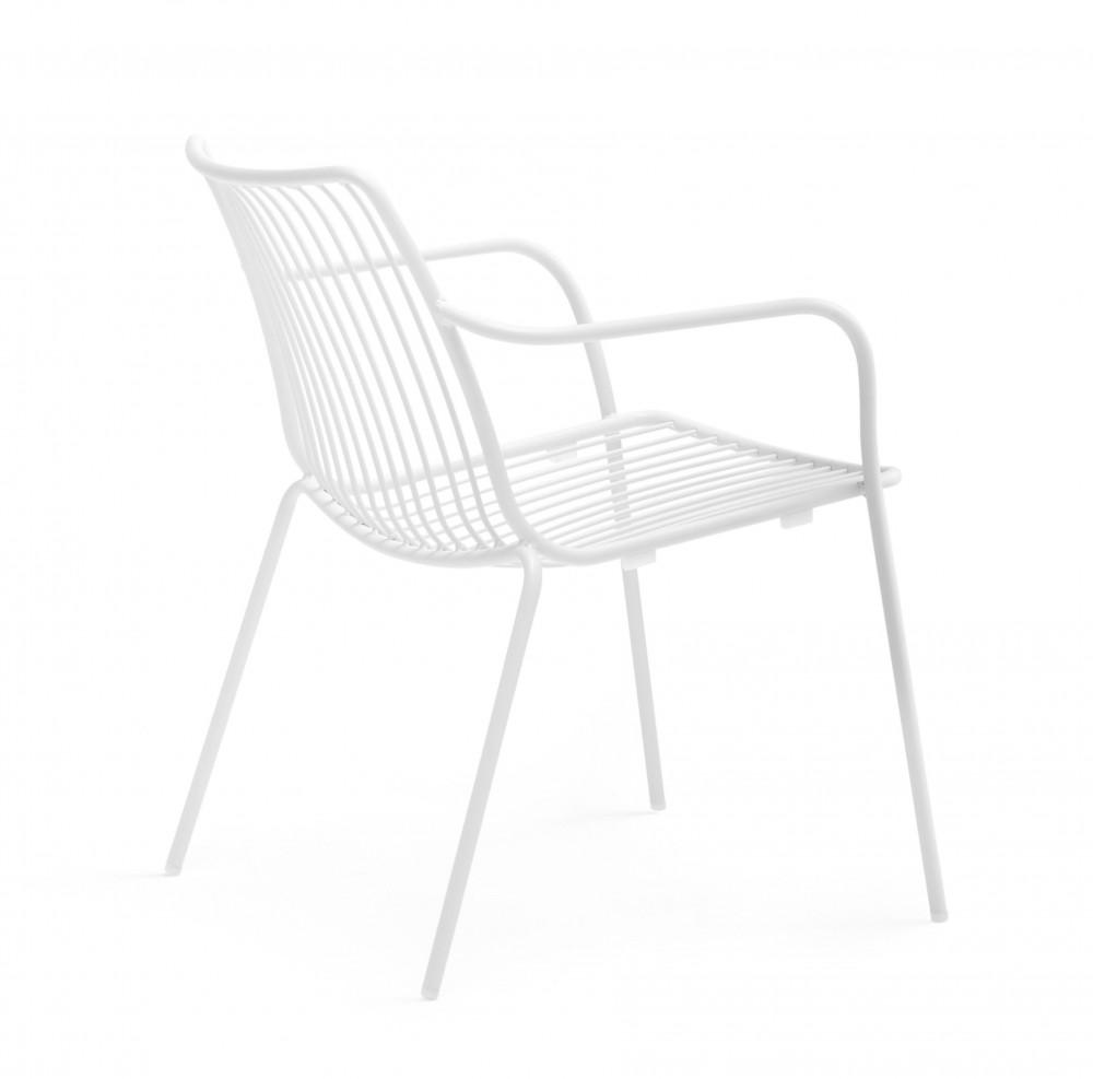Sessel Weiß Metall Mit Armlehne Stapelbar Garten Sessel Lounge
