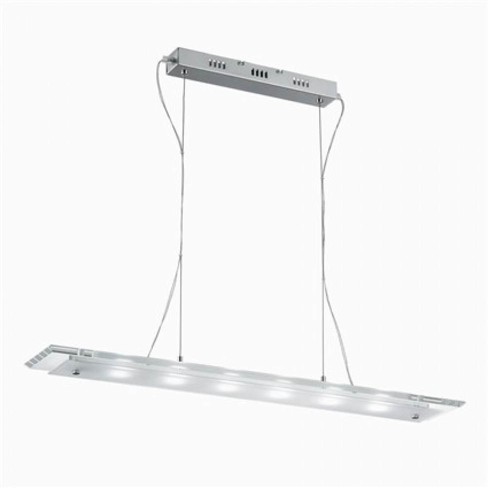Buro Pendelleuchte Metall Chrom Glas Transparent Modern Led