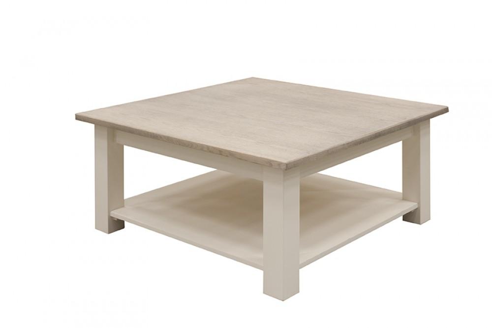 Couchtisch weiß Landhaus, Tisch weiß, Maße 100x100 cm